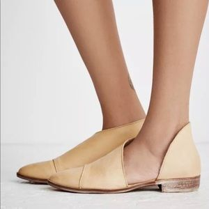 Free People Womens Flat Royale Shoes Natural Tan